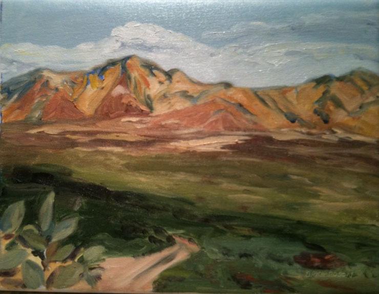 Desert - Beautiful Arizona in all her glory, captured in oil & acrylic on an Artmobile trip.