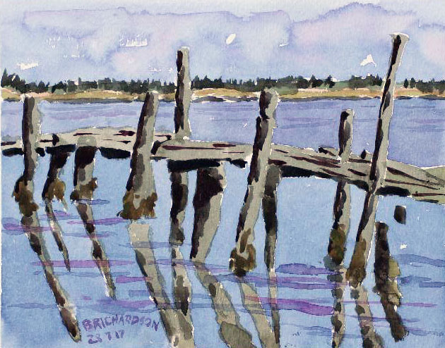 8 En Plein Air - Watercolour paintings completed on location in New Brunswick, Canada