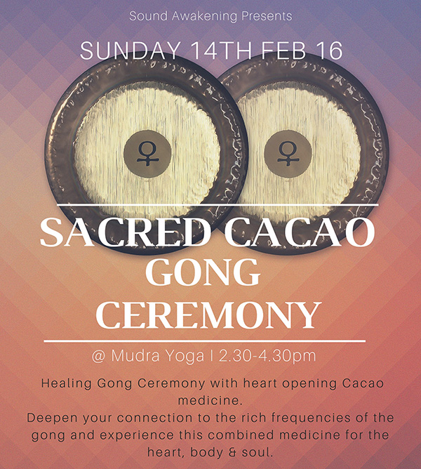Cacao Gong Ceremony Hackney