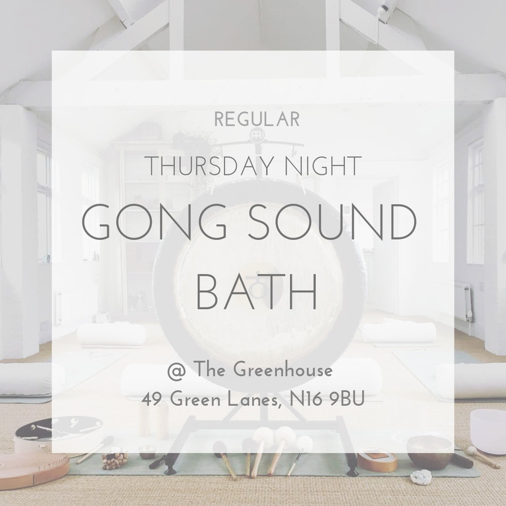 Gong Sound Bath London with Louise Shiels