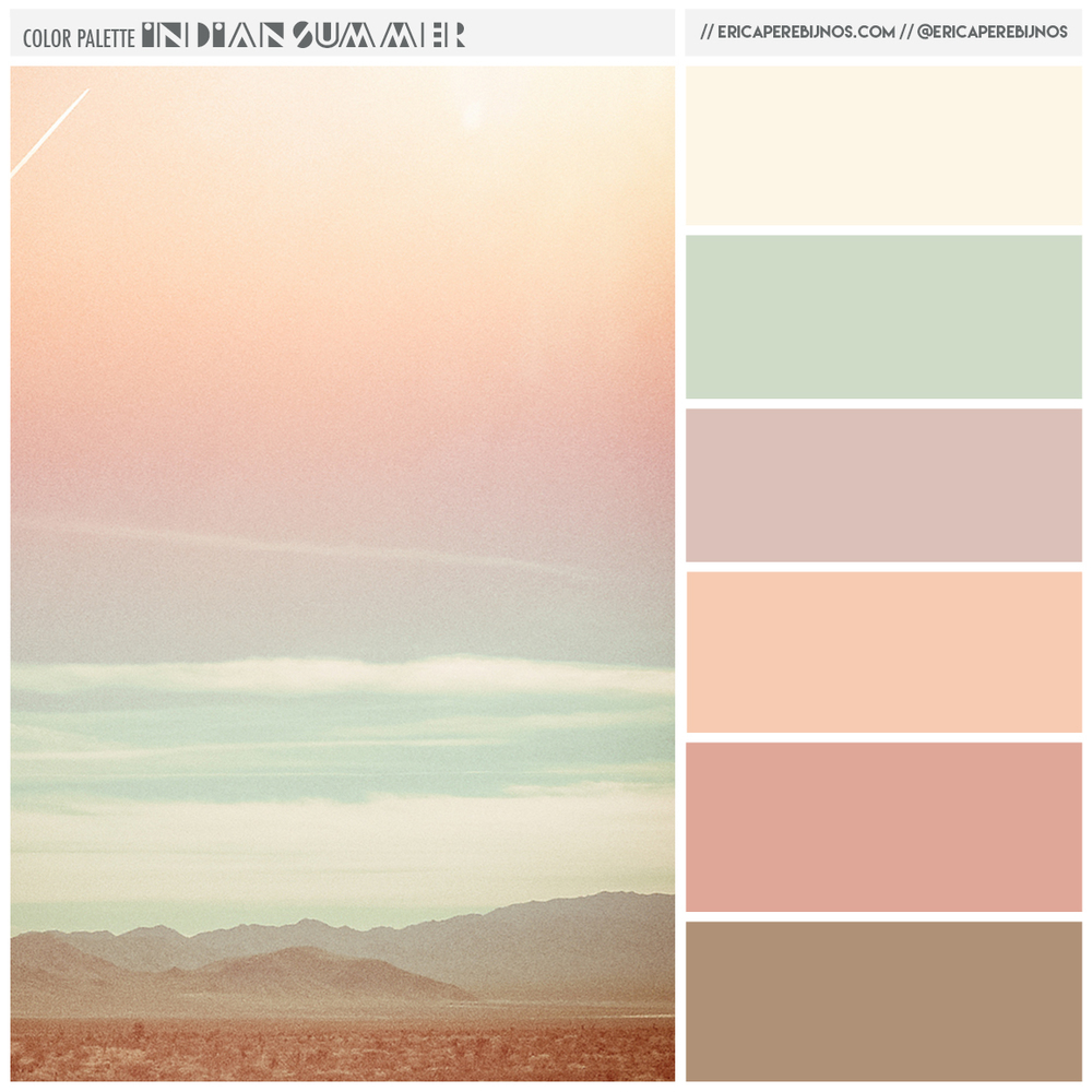 color palette indian summer desert color palette