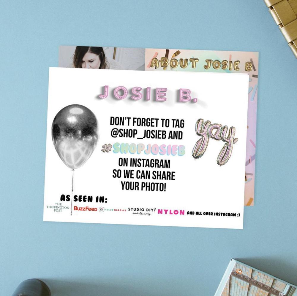Info card design for JOSIE B.