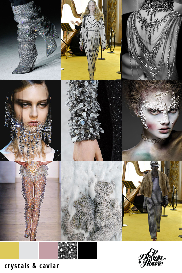 EP Designhouse Moodboard Crystals and Caviar