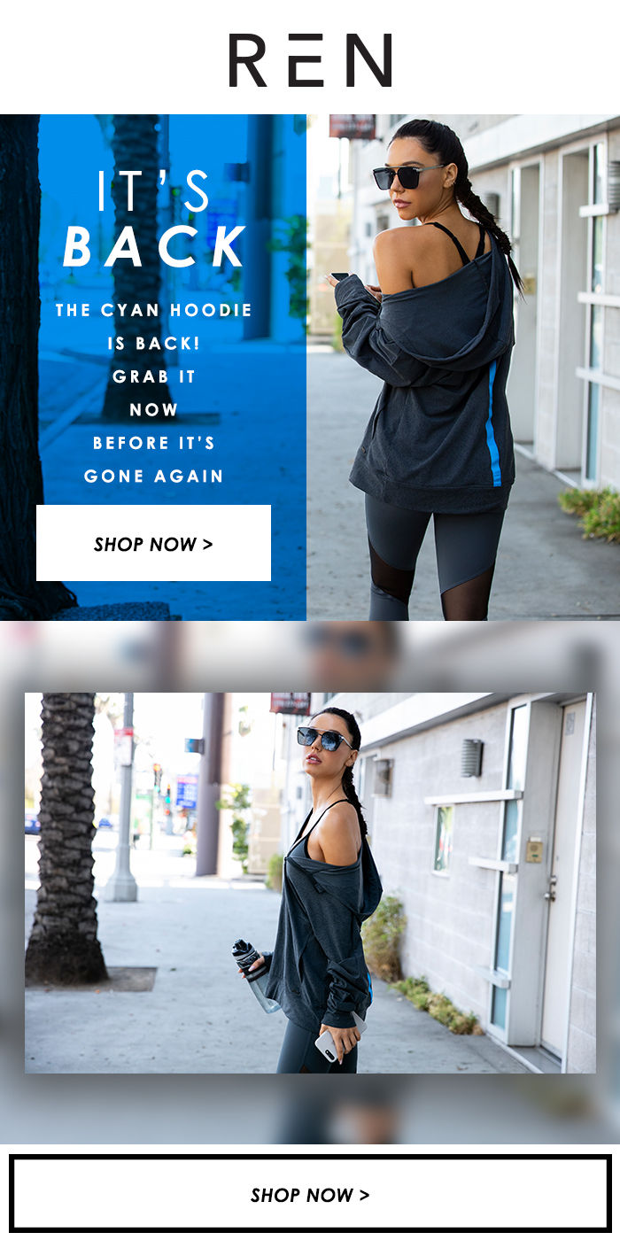 Client: REN ACTIVE by Alexis Ren Project: Email Campaign Design