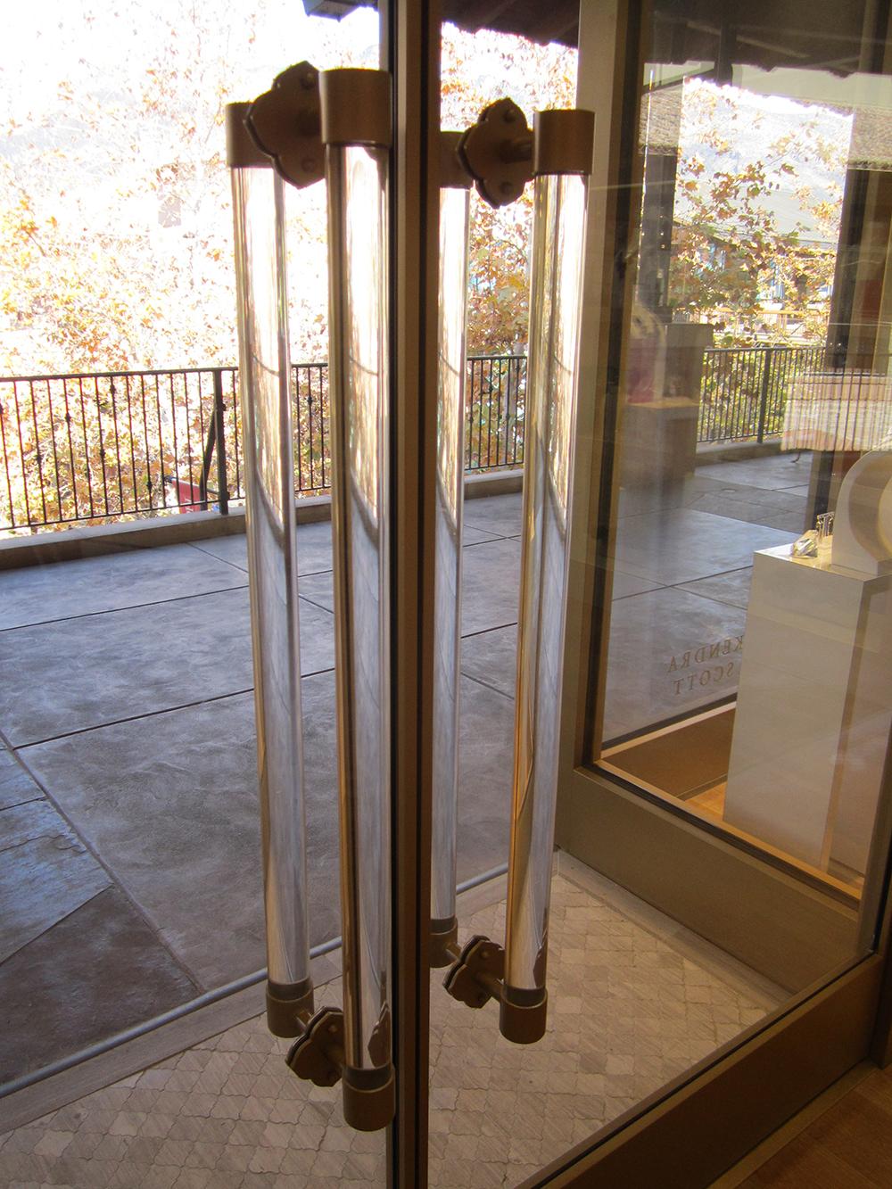 "Scope: built custom mounting fixtures for 2"" acrylic rod"