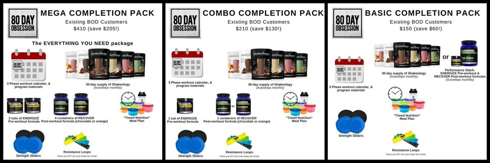EXISTING BEACHBODY ON DEMAND PACKAGES!