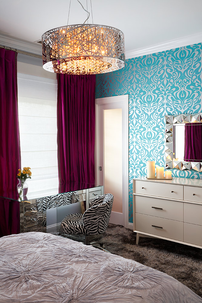Cool Girl's Room Design by NY Interior Design