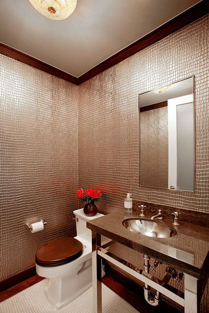 Flatiron Powder Room By Evelyn Benatar