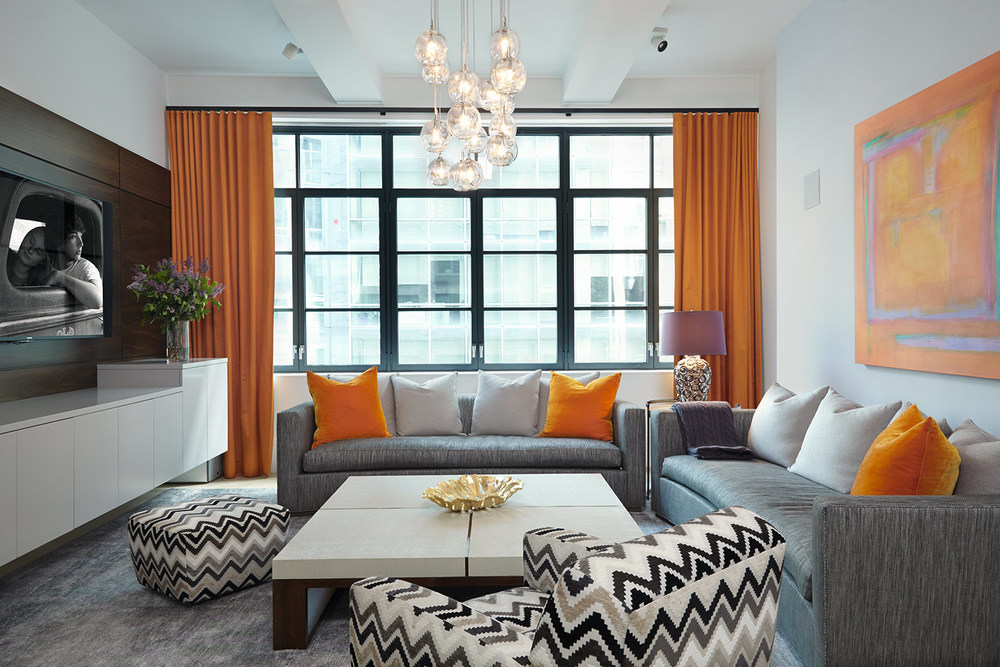 Evelyn Benatar, New York Interior Design, Huys Building, New York CIty,  Living