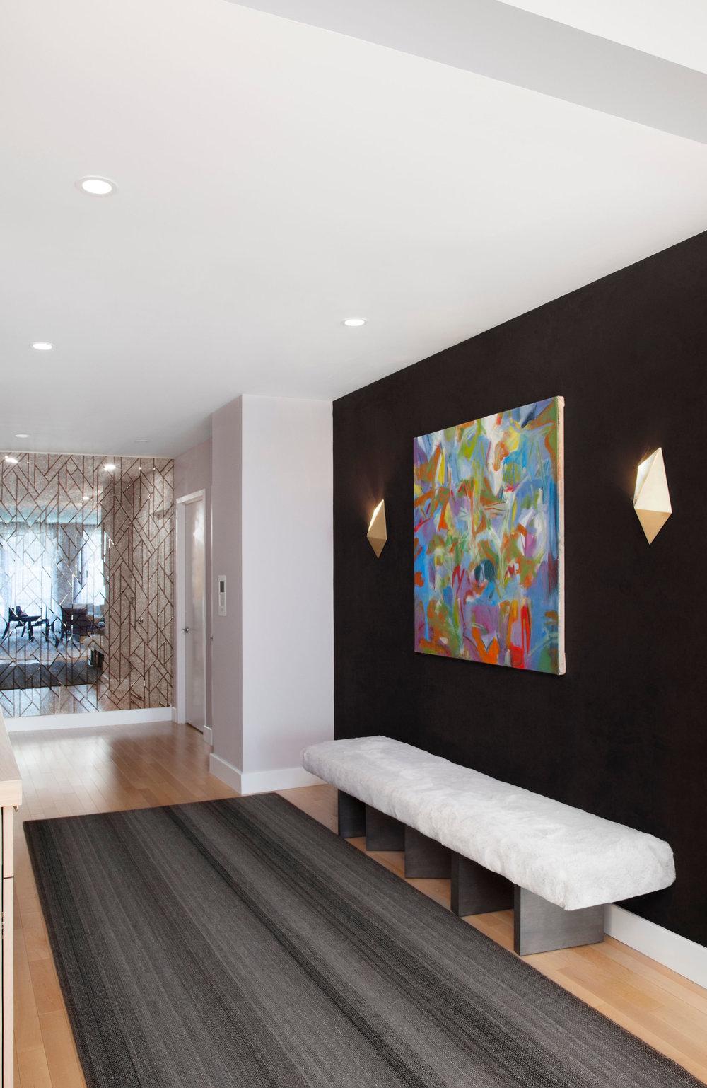 NYC Interior Design Chelsea Loft Entry by Evelyn Benatar