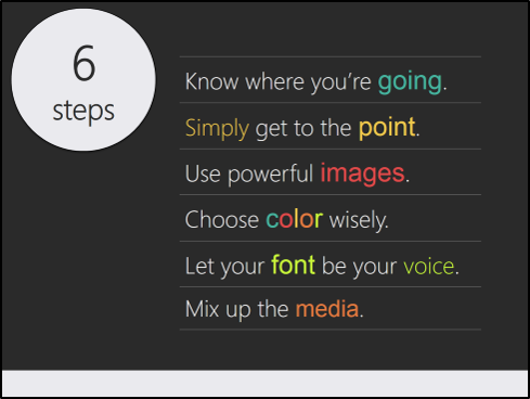 the last two six steps to simple effective presentation design