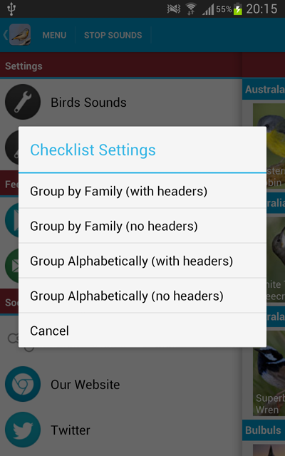 GroupByFamilyChecklistSettings