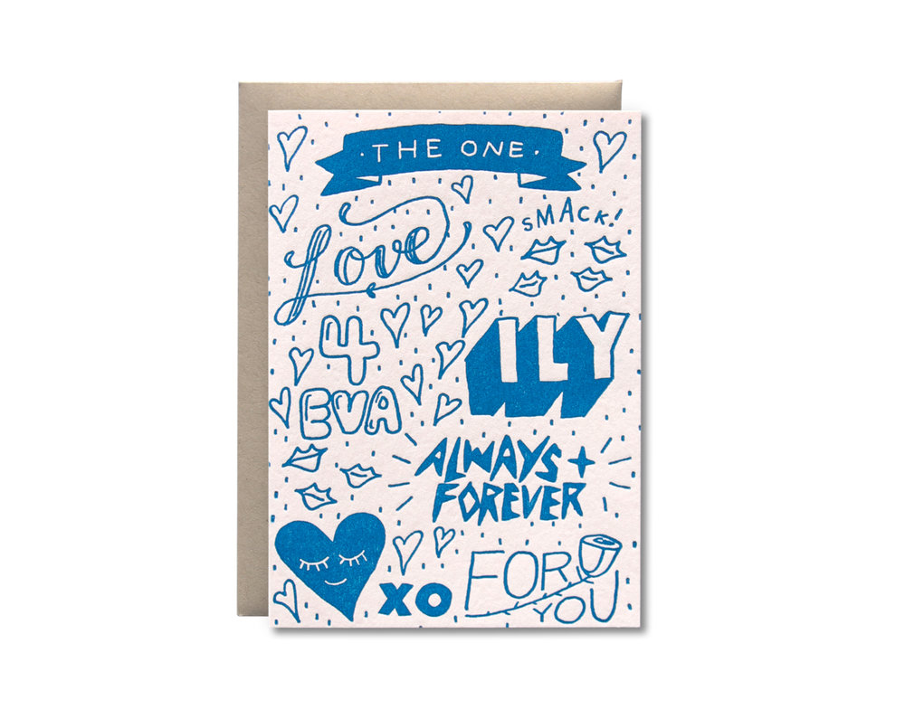 I love you letterpress greeting card half pint studio m4hsunfo
