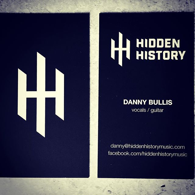 Limited Edition Hidden History business cards! ;) #musicbiz