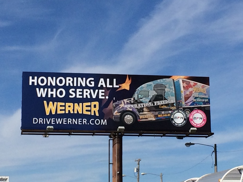 VETERANS DAY BILLBOARD