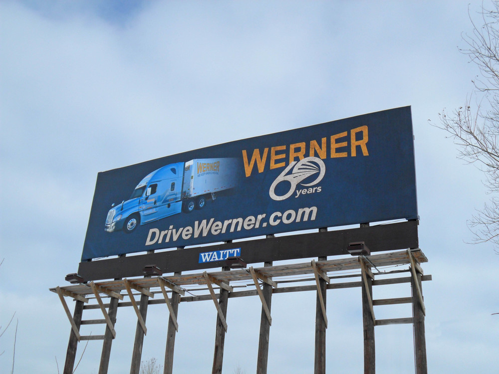 Werner 60th Billboard