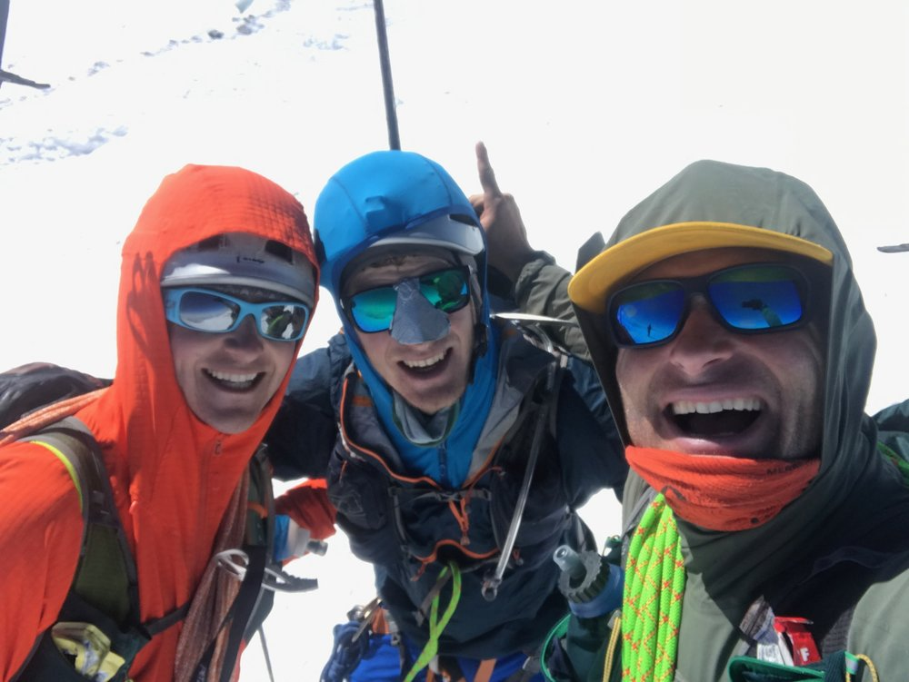Sam, Erik, Myself. After 6 hours and 5 minutes we reached the summit of Mt. Rainier 14,411'