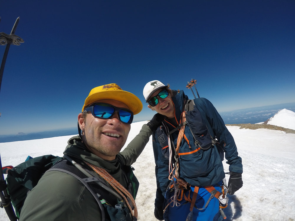 Standing on the summit for the 2nd time with Erik Sanders. This ascent took us 8 hours.
