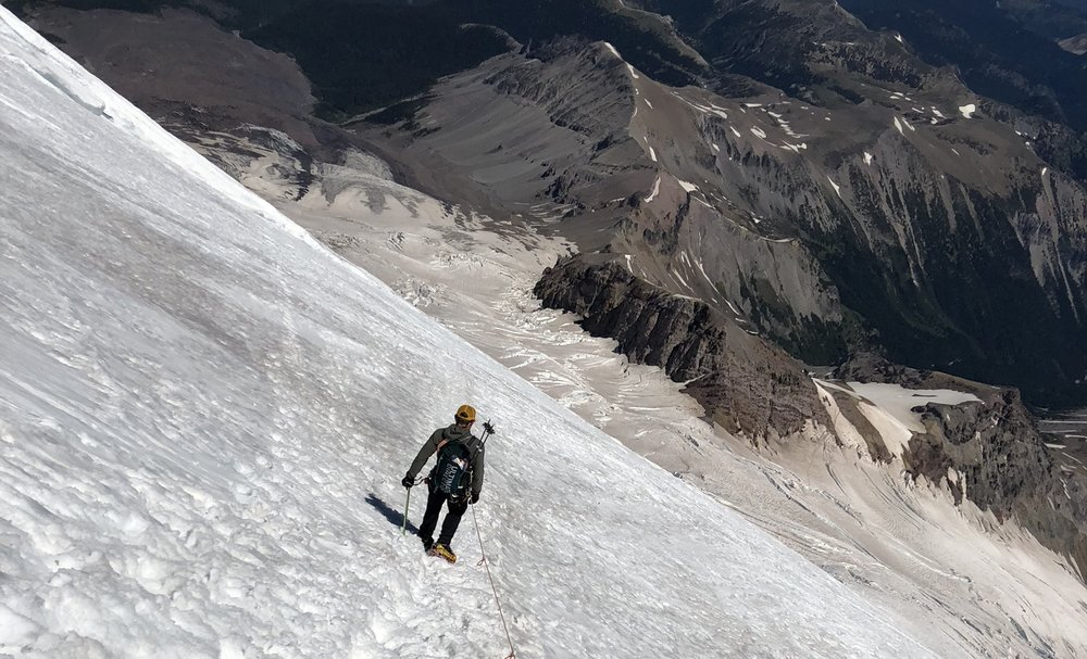 Descending the Emmons Glacier with Mountain Kit #2
