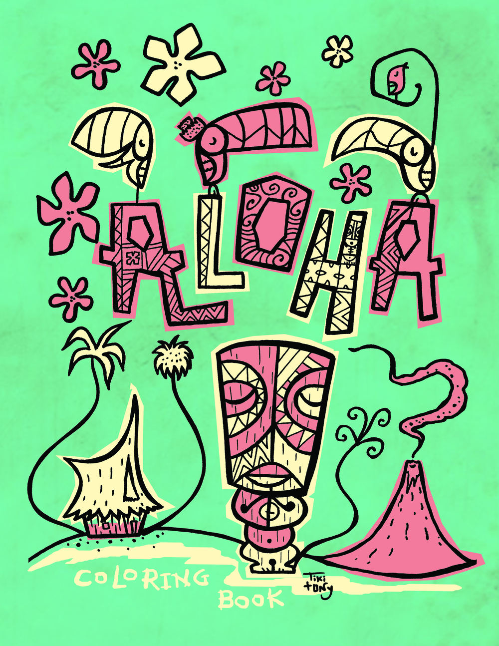 Tiki tOny Summer Digital Coloring Book 20 Pages! — Tiki tOny
