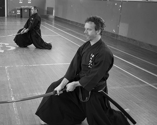 Chris gilham at 2015 iaido seminar with kim taylor sensei