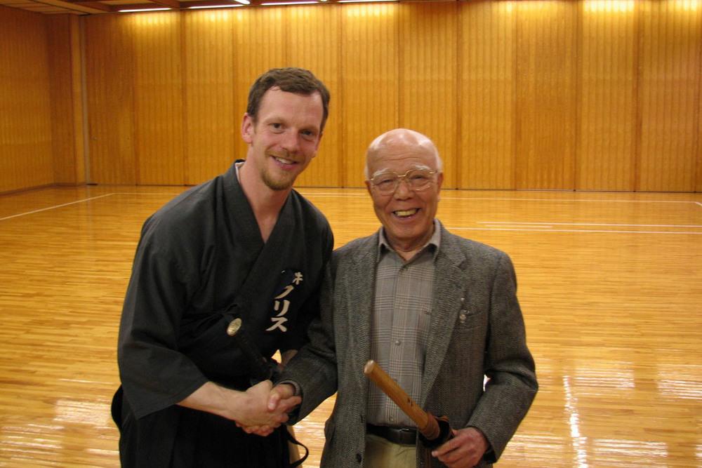 Chris gilham sensei with yamamoto sensei