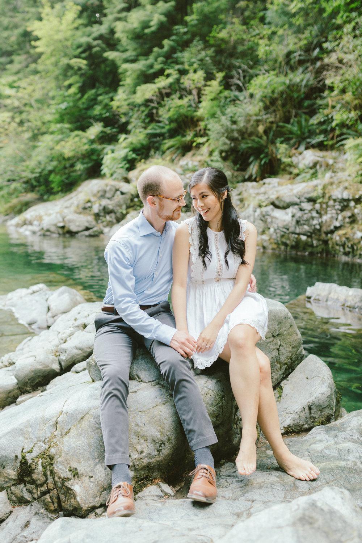 Lynn Canyon Valley, Vancouver engagement wedding photography | Mattie C. fine art wedding photographer