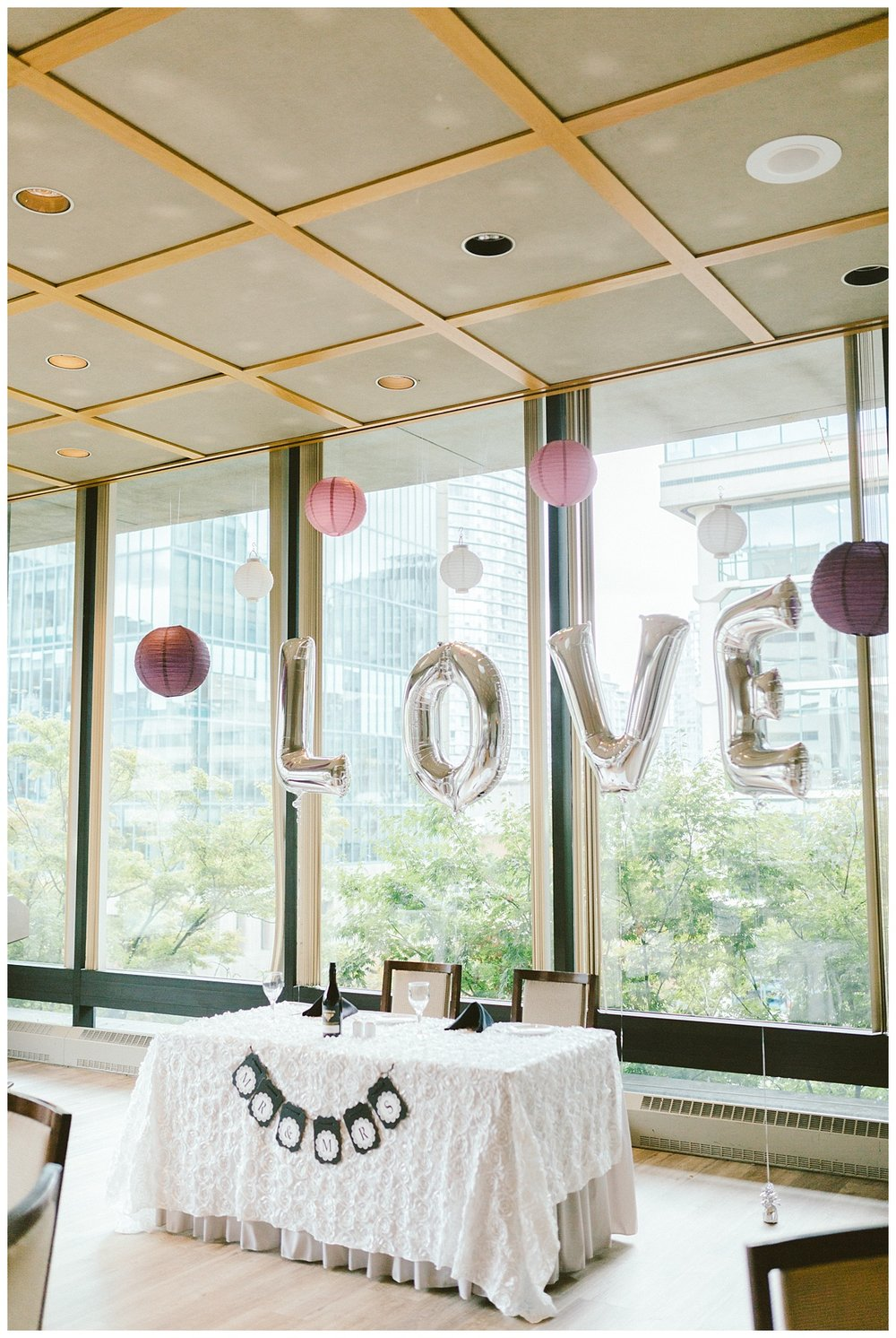 Wedding ceremony and reception at Law Courts Inn, Vancouver