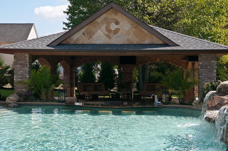 Franklin nj in ground pool and pavilion design k c for Pool pavilion designs