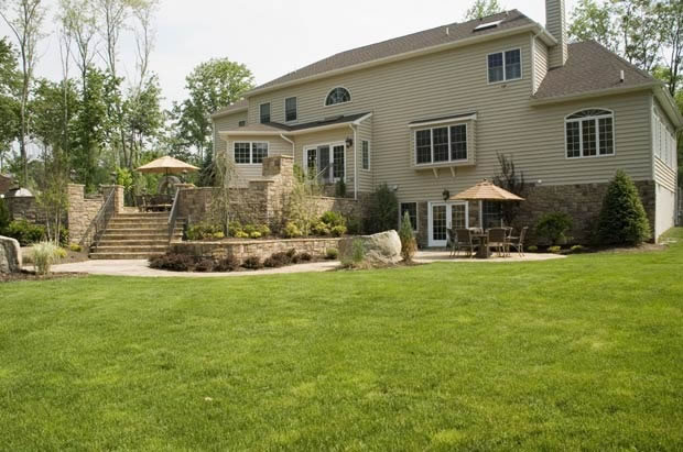 Ku0026C Land Design NJ Raised Patios 1