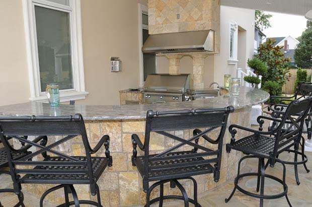 Outdoor Kitchen & Fireplace Design in NJ — K & C Land Design ...