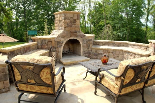Outdoor Kitchen & Fireplace Design in NJ — K & C Land Design ...