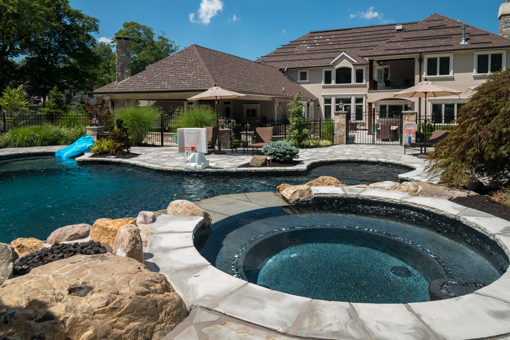 Pool design livingston nj k c land design construction for Pool design hamilton nj