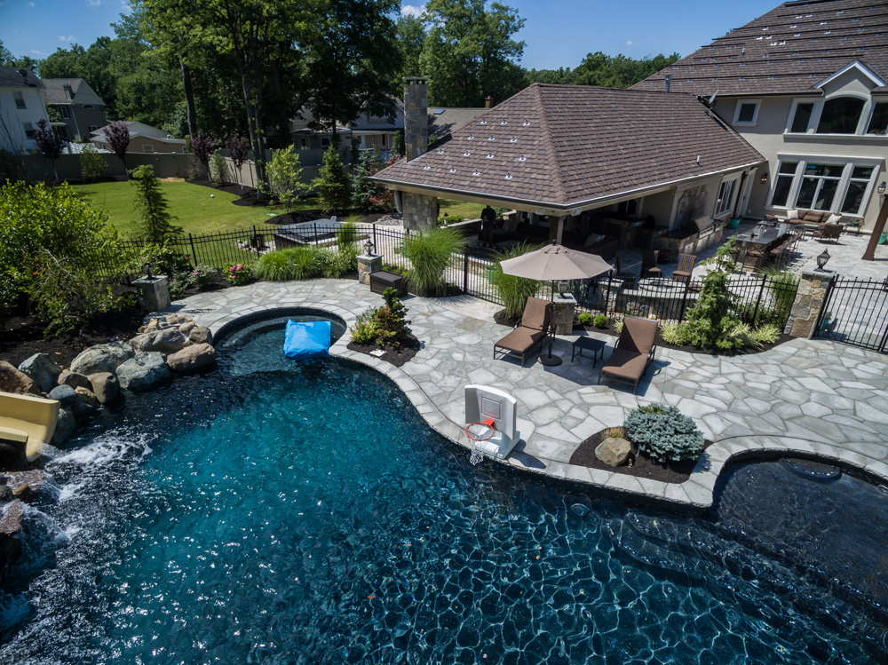 Pool design livingston nj k c land design construction - Inground swimming pools new jersey ...