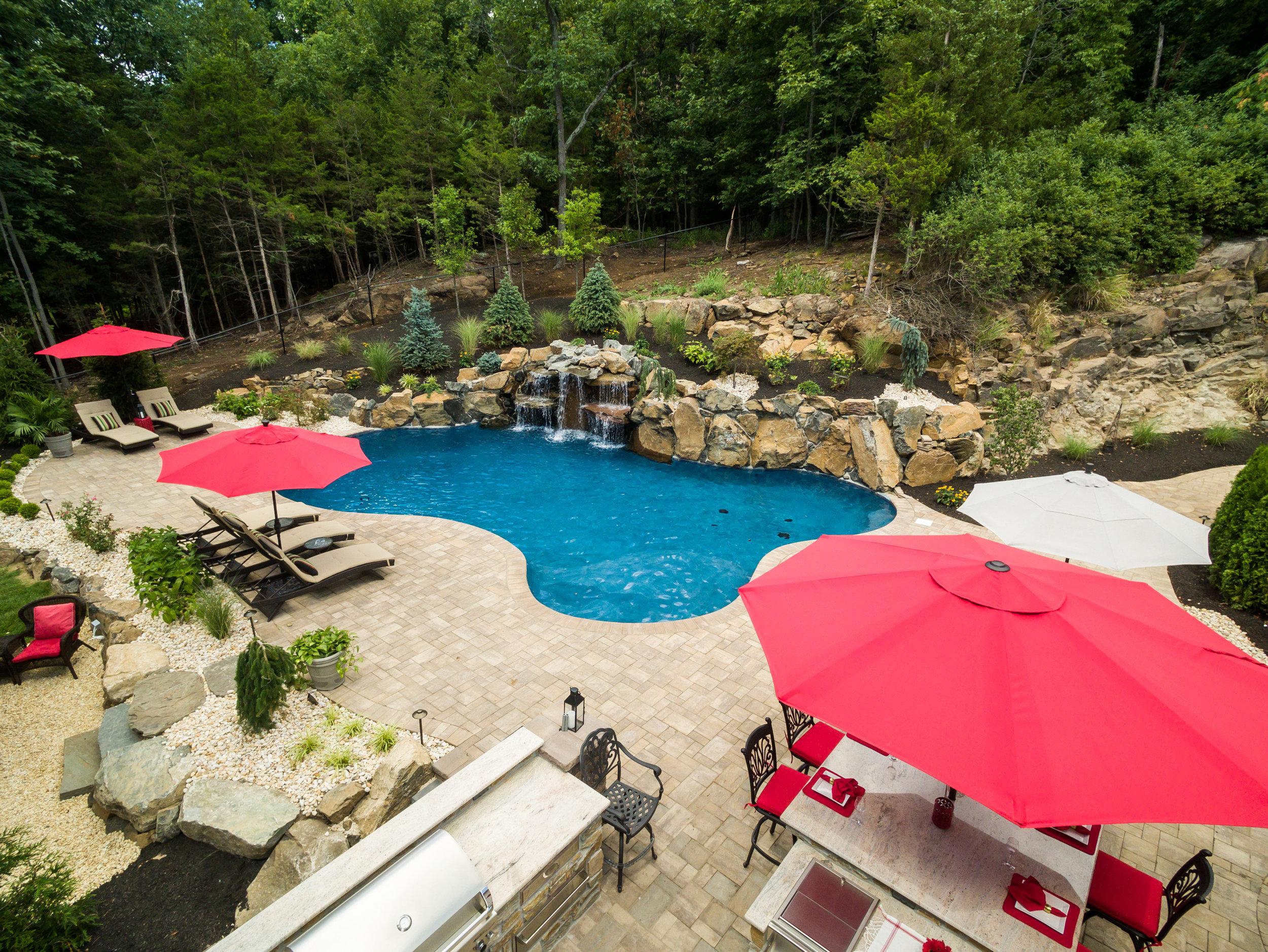Pool Designs And Landscaping   Wayne Nj Custom Pool Design And Landscape Design K C Land