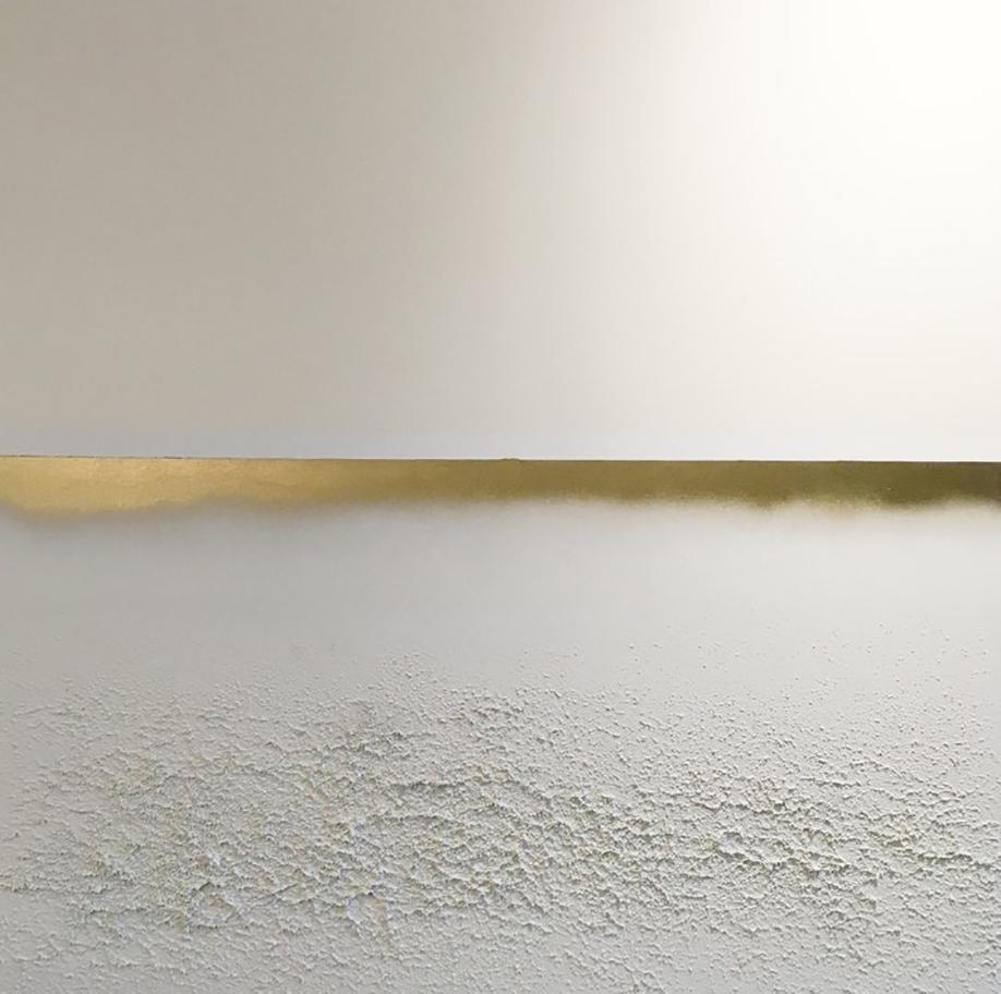 goldhorizon3. 54x54. eco-friendly acrylic + sand. 2016.