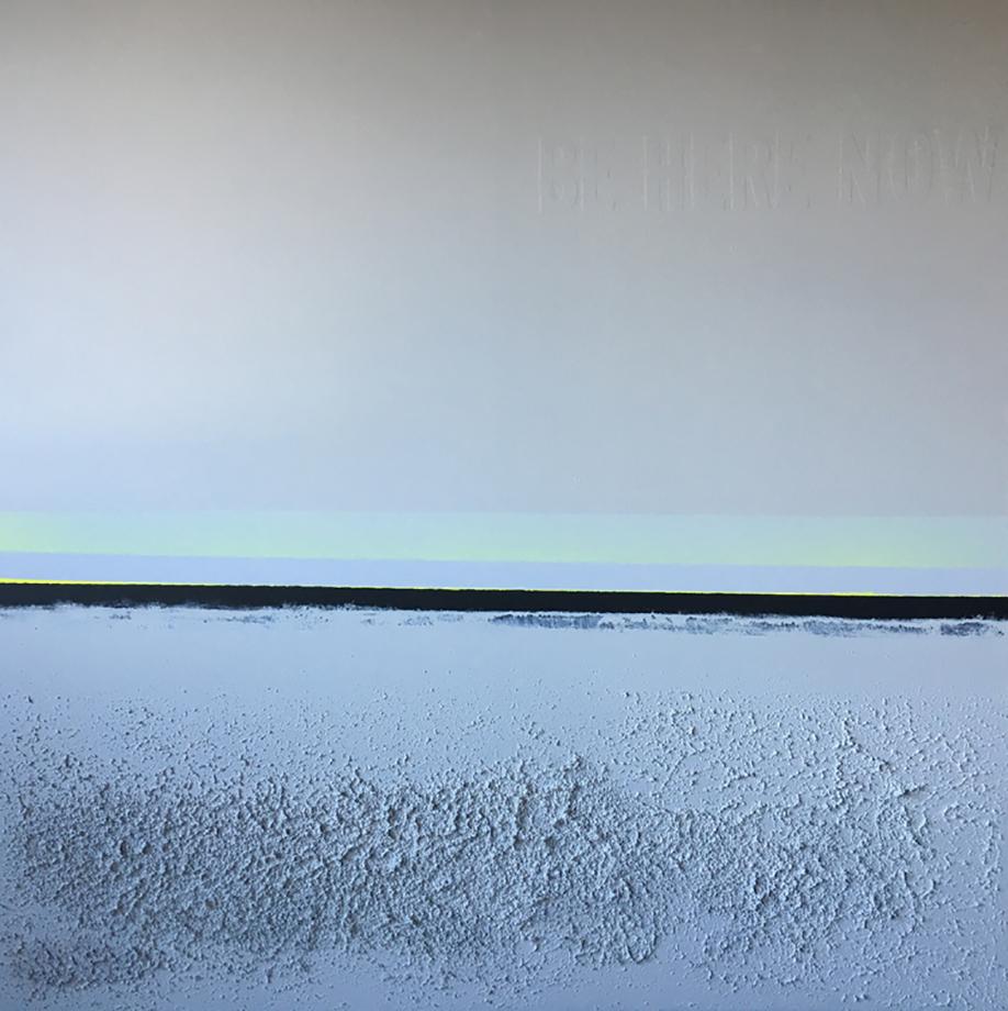 greyneonhorizon. 54x54. eco-friendly acrylic + sand. 2016.