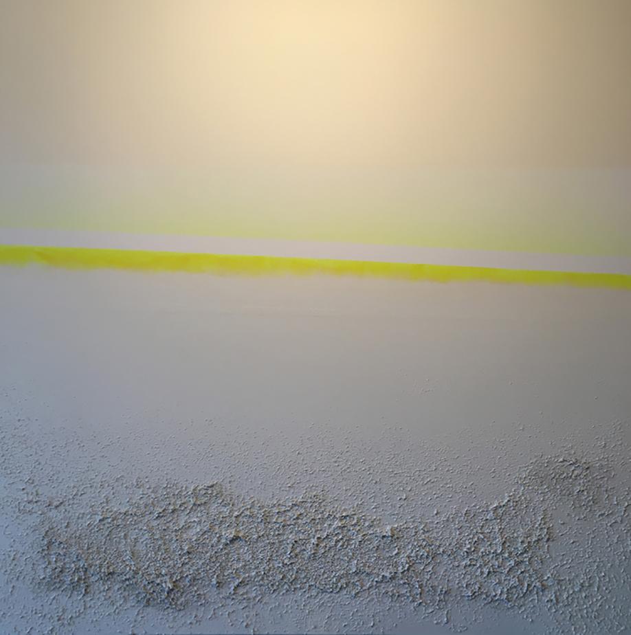 neonyellowhorizon. 54x54. eco-friendly acrylic + sand. 2016.