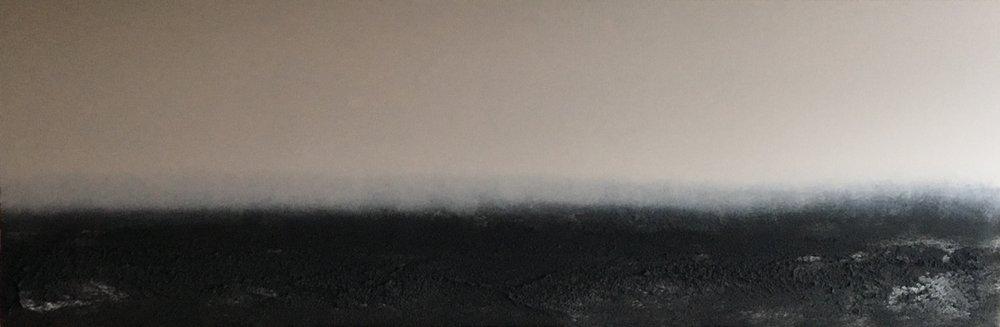 oystersky4. 20x60. eco-friendly acrylic + sand. 2017.