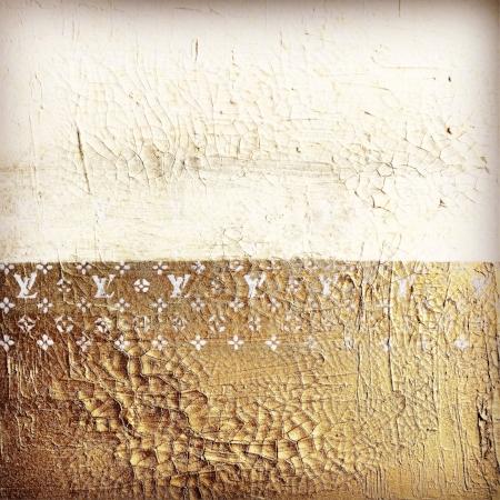 goldwornLV. 18x18. textured acrylic. 2017.