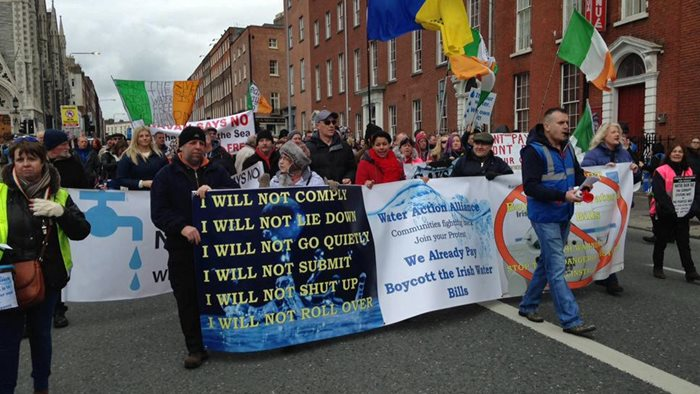 Campaign groups from around the country took part in the march. ©UTV Ireland