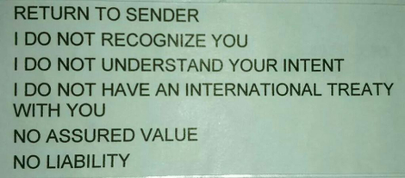 Buncrana Together - Use this label to return the bill to sender. No stamp needed. Take a photo of it when posting. Do not open or write on envelope