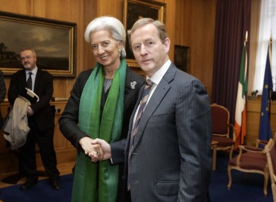 International Monetary Fund  chief Christine Lagarde meeting Taoiseach Enda Kenny, Government Buildings, Dublin.   May 2013 journal.ie