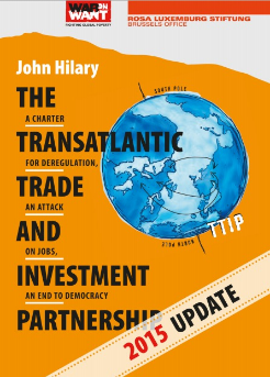 Click image to Download.    The Transatlantic Trade and Investment Partnership (TTIP) is a comprehensive free trade and investment treaty currently being negotiated – in secret – between the European Union and the USA. As officials from both sides acknowledge, the main goal of TTIP is to remove regulatory 'barriers' which restrict the potential profits to be made by transnational corporations on both sides of the Atlantic.