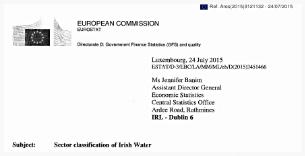 Click to open Eurostat's Irish Water Classification