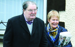 John Hume and his wife Pat pictured in Derry earlier this year Picture: James Whorriskey