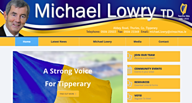 Michael Lowry's website