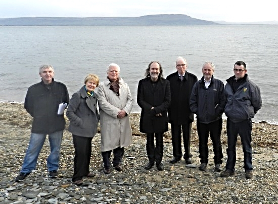 Save the Foyle,  Moville/Greencastle group with John Waters.  from left: Paul McLaughlin, Mrs Pat Hume, Dan McGuinness, John Waters, Don McGinley, Enda Craig, Thomas Farren.