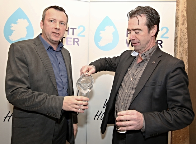 Brendan Ogle, Unite and John Douglas, Mandate.  Mr Ogle is spokesperson for Right2Water affiliated trade unions.