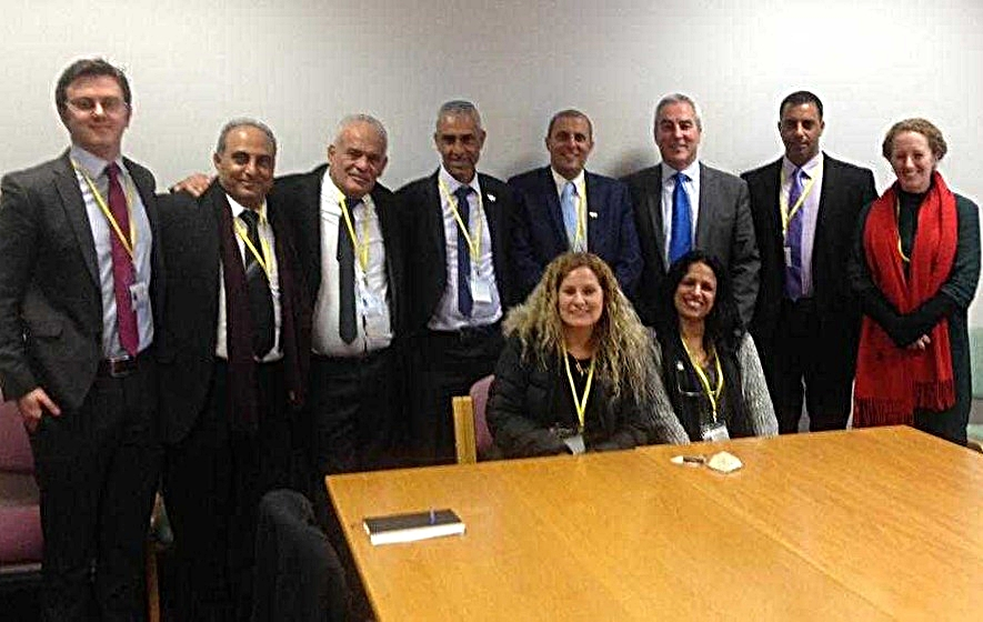 Sinn Féin's Pat Sheehan meets members of Likud in Belfast in June.   Irish News